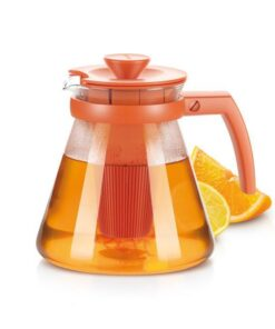Infusiera Vetro Teiera Arancione Tescoma