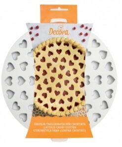 griglia crostata cuori decora